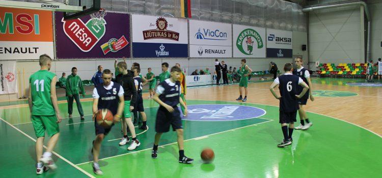 LSOK vaikinų krepšinio čempionatas A. Sabonio krepšinio centre