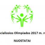 Lietuvos Specialiosios Olimpiados 2017 m. rudens kroso NUOSTATAI