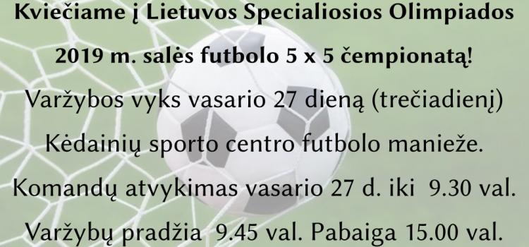 Lietuvos SO 2019 m. salės futbolo 5 x 5 čempionatas