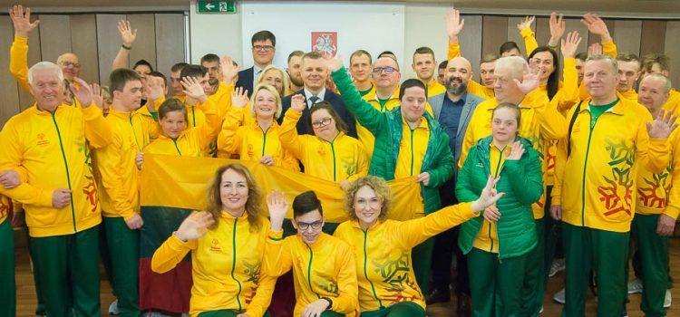 Lietuvos rinktinė šiandien išlydėta į Specialiosios olimpiados vasaros žaidynes