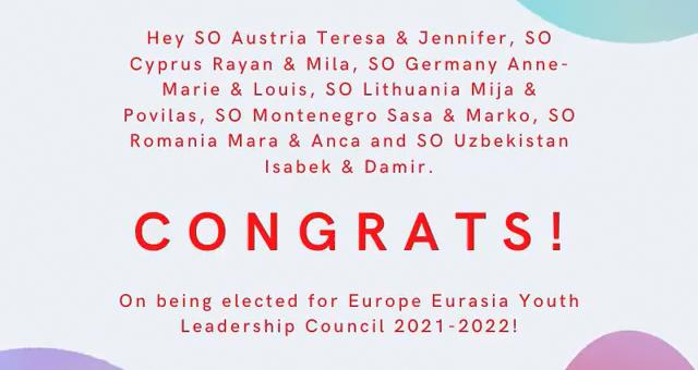 Nuostabios žinios! Jaunimo lyderiai Povilas ir Mija išrinkti atstovauti Lietuvą Europos Eurazijos regiono Jaunimo lyderystės taryboje 2021-2022 🎊🎊🎊