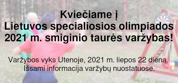 Kviečiame į Lietuvos specialiosios olimpiados 2021 m. smiginio taurės varžybas! (nuostatai viduje)