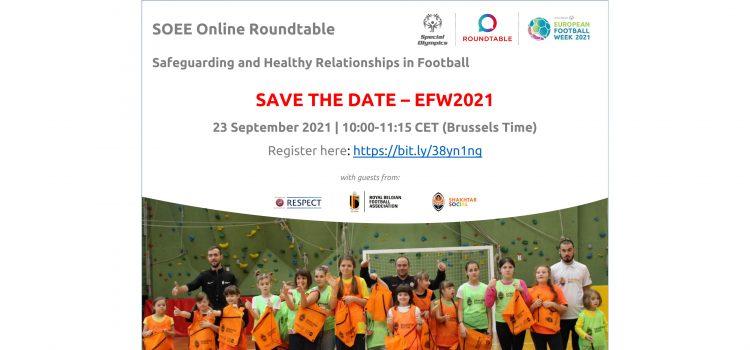 """SOEE kvietimas į seminarą """"Sveikų santykių išsaugojimas ir palaikymas futbole"""""""
